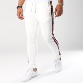 /achat-pantalons-joggings/gov-denim-pantalon-jogging-avec-bandes-g18018-blanc-144033.html