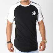 /achat-t-shirts-longs-oversize/sinners-attire-tee-shirt-oversize-bandes-brodees-tape-raglan-595-noir-blanc-144112.html