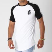 /achat-t-shirts-longs-oversize/sinners-attire-tee-shirt-oversize-bandes-brodees-tape-raglan-596-blanc-noir-144115.html