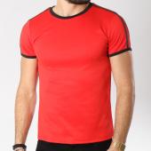 /achat-t-shirts/aarhon-tee-shirt-206-avec-bandes-rouge-noir-144179.html