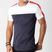/achat-t-shirts/aarhon-tee-shirt-202-avec-bande-bleu-marine-blanc-rouge-144180.html