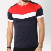 /achat-t-shirts/aarhon-tee-shirt-205-avec-bande-bleu-marine-blanc-rouge-144183.html