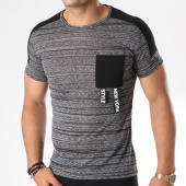 /achat-t-shirts-longs-oversize/classic-series-tee-shirt-poche-oversize-l-2032-gris-anthracite-chine-144386.html