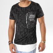 /achat-t-shirts-longs-oversize/classic-series-tee-shirt-oversize-avec-poche-yl-11-noir-144390.html