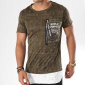 /achat-t-shirts-longs-oversize/classic-series-tee-shirt-oversize-avec-poche-yl-11-vert-kaki-blanc-144397.html
