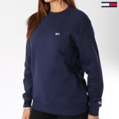 /achat-sweats-col-rond-crewneck/tommy-hilfiger-jeans-sweat-crewneck-femme-classics-4529-bleu-marine-144263.html