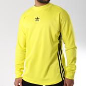 /achat-t-shirts-manches-longues/adidas-tee-shirt-de-sport-manches-longues-authentic-3-stripes-dj2869-jaune-fluo-bleu-marine-144471.html