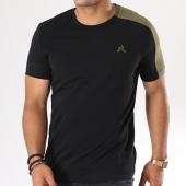 /achat-t-shirts/le-coq-sportif-tee-shirt-ess-saison-1820047-noir-vert-kaki-144501.html