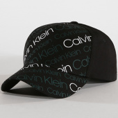 /achat-casquettes-de-baseball/calvin-klein-casquette-logo-0191-noir-blanc-vert-144621.html