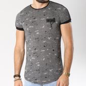 /achat-t-shirts-longs-oversize/classic-series-tee-shirt-oversize-bande-brodee-onze-noir-blanc-144772.html