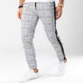 /achat-pantalons-carreaux/frilivin-pantalon-a-carreaux-avec-bandes-1332-gris-noir-144914.html
