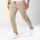 /achat-pantalons-carreaux/frilivin-pantalon-bandes-brodees-1377-beige-blanc-noir-144928.html