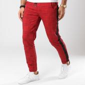 /achat-pantalons-carreaux/frilivin-pantalon-jogging-a-carreaux-avec-bandes-1332-rouge-noir-144950.html