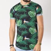 /achat-t-shirts-longs-oversize/uniplay-tee-shirt-oversize-uy-226-noir-floral-vert-144954.html