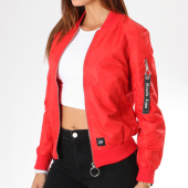 /achat-bombers/sixth-june-parisiennes-bomber-femme-w3178cja-rouge-floral-145034.html