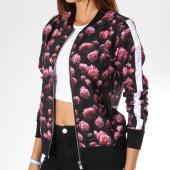 /achat-vestes/sixth-june-parisiennes-veste-zippee-satinee-femme-avec-bandes-w3425vja-noir-floral-145057.html