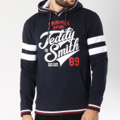 /achat-sweats-capuche/teddy-smith-sweat-capuche-bandes-brodees-splitter-bleu-marine-145151.html