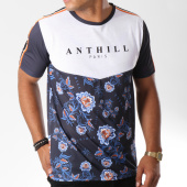 /achat-t-shirts/anthill-tee-shirt-bandes-brodees-floral-bleu-marine-blanc-145393.html