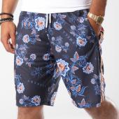 /achat-shorts-jogging/anthill-short-jogging-bandes-brodees-floral-bleu-marine-145396.html