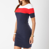 /achat-robes/girls-only-robe-manches-courtes-femme-3333-bleu-marine-blanc-rouge-145288.html