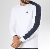 /achat-sweats-col-rond-crewneck/le-coq-sportif-sweat-crewneck-avec-bande-essential-saison-n1-1820673-blanc-bleu-denim-145323.html
