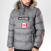 Canadian Peak - Doudoune Fourrure Patchs Brodés Boreak Gris 6f8acc648c1a