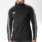 /achat-sweats-col-zippe/umbro-sweat-bande-brodee-diamond-noir-blanc-145873.html