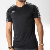 /achat-t-shirts/umbro-tee-shirt-de-sport-bande-brodee-diamond-noir-blanc-145886.html
