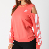 /achat-sweats-col-rond-crewneck/adidas-sweat-crewneck-femme-cut-out-dh2995-corail-146088.html
