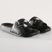 /achat-claquettes-sandales/classic-series-claquettes-splash-noir-blanc-146278.html