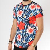 /achat-t-shirts-longs-oversize/uniplay-tee-shirt-oversize-bandes-brodees-t360-noir-bleu-clair-floral-146363.html