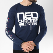 /achat-t-shirts-manches-longues/neochrome-tee-shirt-manches-longues-hall-stars-bleu-marine-146523.html