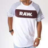 /achat-t-shirts-longs-oversize/g-star-tee-shirt-oversize-beatal-loose-d10709-4561-blanc-gris-chine-bordeaux-146622.html