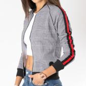 /achat-vestes/project-x-veste-zippee-femme-bandes-brodees-f183001-gris-146605.html