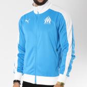 /achat-vestes/puma-veste-zippee-avec-bandes-om-fan-754217-bleu-clair-blanc-146614.html