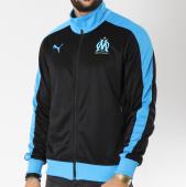 /achat-vestes/puma-veste-zippee-avec-bandes-om-fan-754217-noir-bleu-clair-146615.html