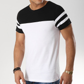 /achat-t-shirts/lbo-tee-shirt-bicolore-avec-bandes-487-noir-blanc-146797.html