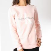 /achat-sweats-col-rond-crewneck/calvin-klein-sweat-crewneck-oversize-femme-monogram-logo-7830-rose-146815.html