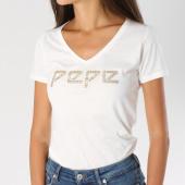 https://www.laboutiqueofficielle.com/achat-t-shirts/tee-shirt-femme-serena-blanc-dore-146949.html