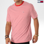 /achat-t-shirts/tommy-hilfiger-jeans-tee-shirt-classics-4573-rouge-blanc-146869.html