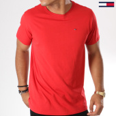 /achat-t-shirts/tommy-hilfiger-jeans-tee-shirt-essential-solid-4577-rouge-146872.html