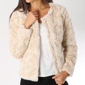 /achat-vestes/vero-moda-veste-fourrure-femme-curl-beige-147126.html