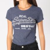 https://www.laboutiqueofficielle.com/achat-t-shirts/tee-shirt-femme-vintage-logo-rhinestone-bleu-marine-chine-argente-147173.html