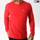 /achat-t-shirts-manches-longues/tommy-hilfiger-jeans-tee-shirt-manches-longues-classics-5095-rouge-147247.html