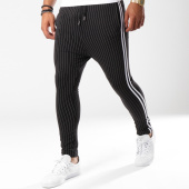 /achat-pantalons-carreaux/vip-clothing-pantalon-raye-a-bandes-1907-noir-blanc-147298.html