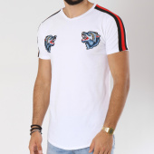 /achat-t-shirts-longs-oversize/vip-clothing-tee-shirt-oversize-bandes-brodees-1902-blanc-noir-rouge-147299.html