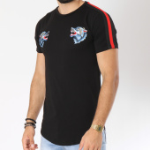 /achat-t-shirts-longs-oversize/vip-clothing-tee-shirt-oversize-bandes-brodees-1902-noir-rouge-147300.html