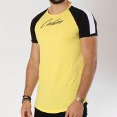 /achat-t-shirts-longs-oversize/vip-clothing-tee-shirt-oversize-1903-jaune-noir-blanc-147301.html