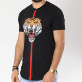 /achat-t-shirts-longs-oversize/vip-clothing-tee-shirt-oversize-bandes-brodees-1346-noir-147303.html