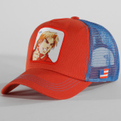 /achat-trucker/street-fighter-casquette-trucker-ken-orange-bleu-clair-147486.html